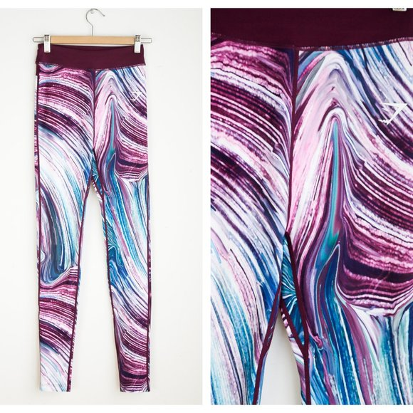 Gymshark Colourful Purple Teal Colorful Leggings